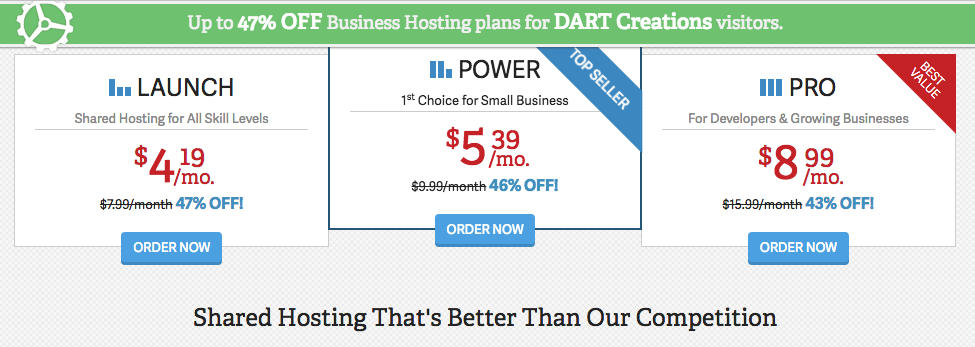 CollectiveRay Business Hosting Pricing Offer