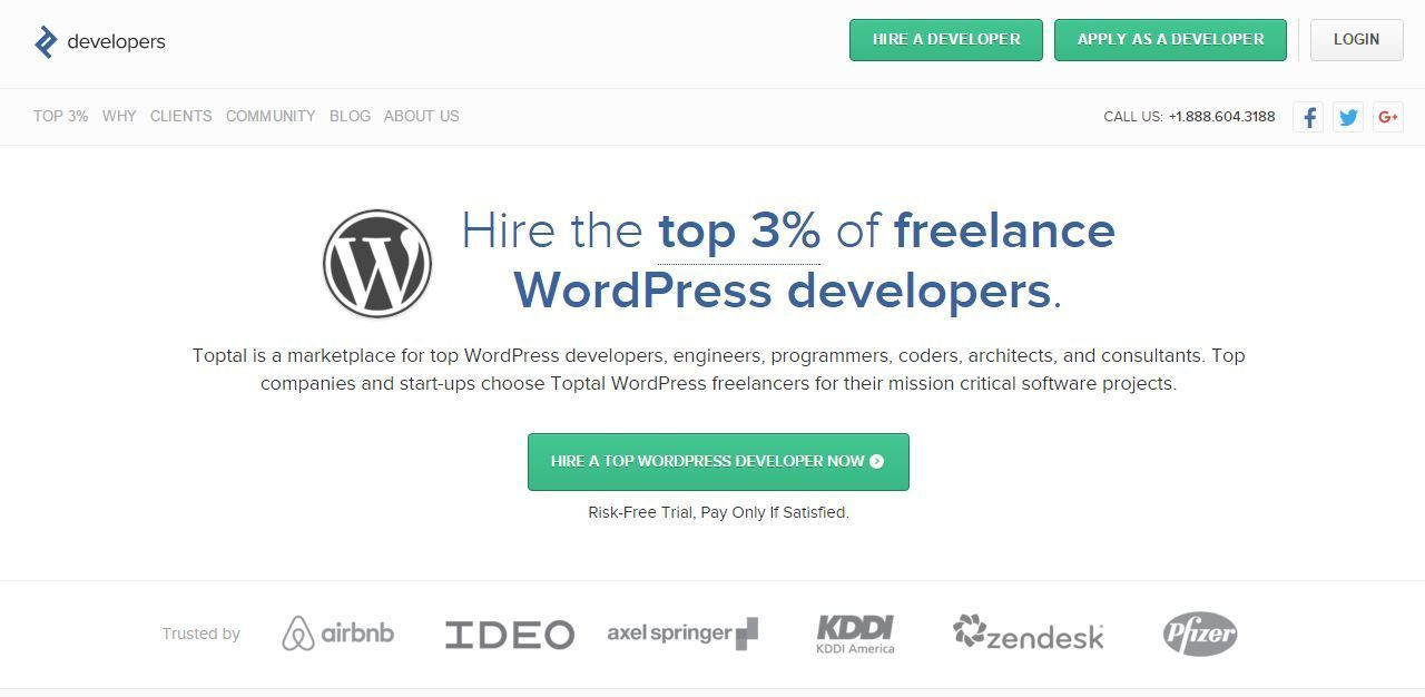 WordPress developers for hire at toptal
