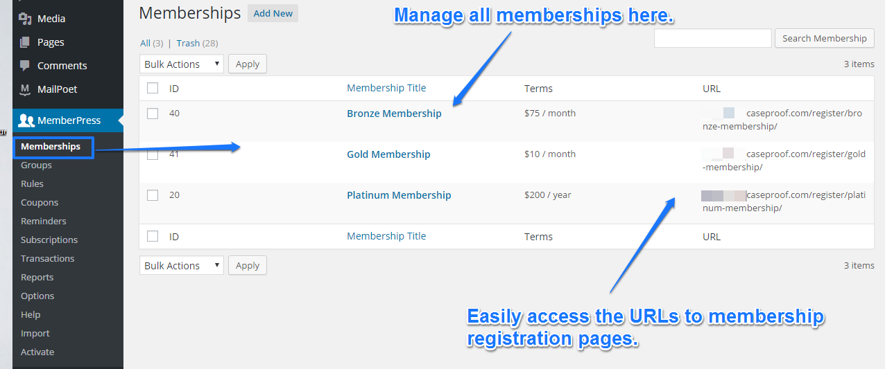 mp memberships