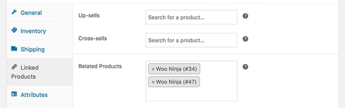 Settings of Custom Related Products for WooCommerce