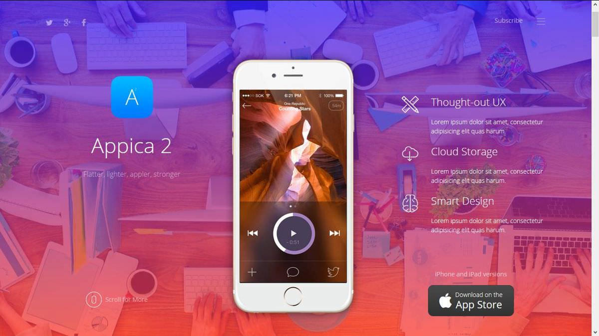 Appica 2 is an app showcasing theme