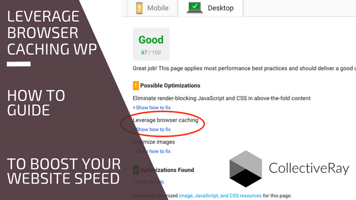 Leverage browser caching WordPress