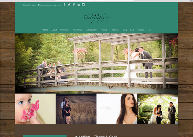 Photography website using this template