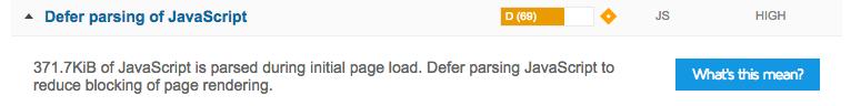 GTMetrix - Defer parsing of javascript warning