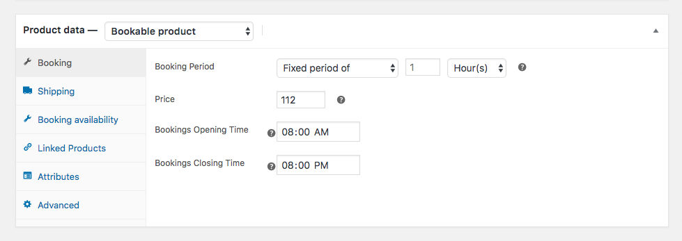 woocommerce bookings and appointment