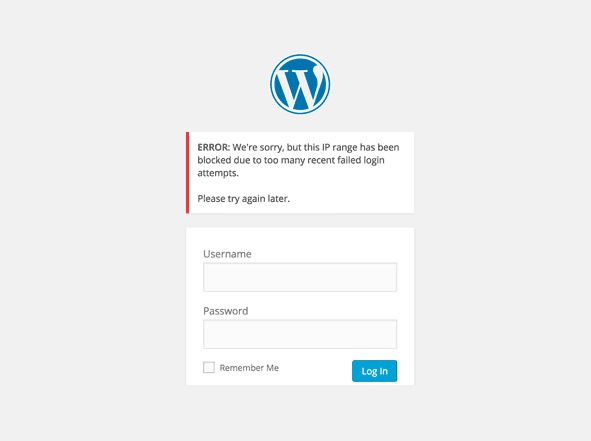wordpress login lockdown