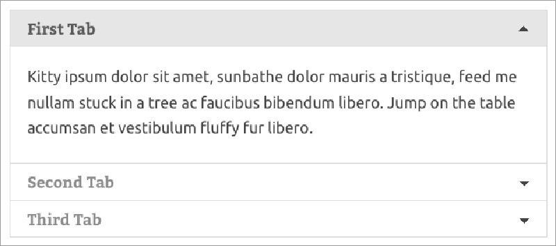tab content in wordpress